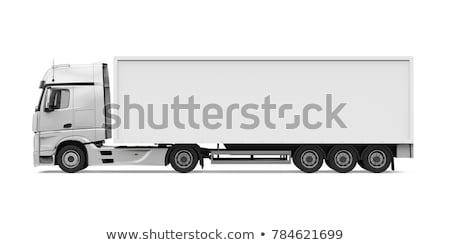 Truck with trailer side view Stock photo © YuriSchmidt