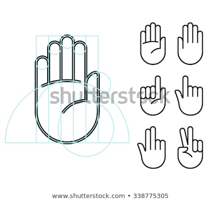 hand signs   modern flat design style icons set stock photo © decorwithme