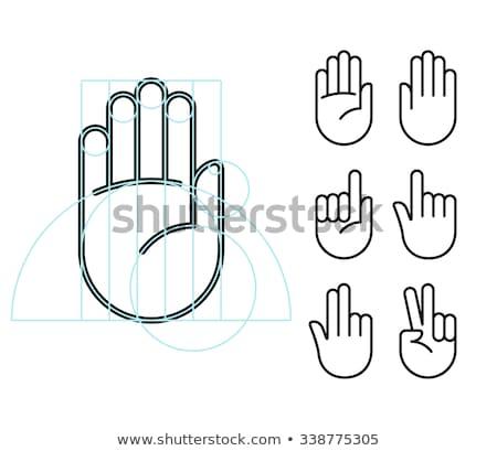 béke · kézjel · vektor · ikon · szett · kéz · szeretet - stock fotó © decorwithme