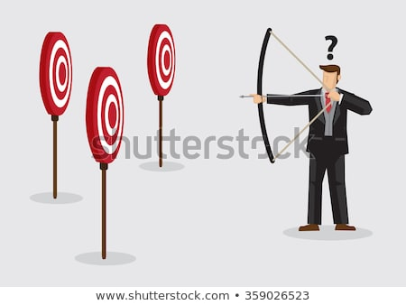 Business Purpose, Manager Shooting At The Target Vector. Isolated Illustration Stock photo © pikepicture