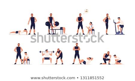 тяжелая атлетика белый дизайна тело здоровья лет Сток-фото © Vicasso