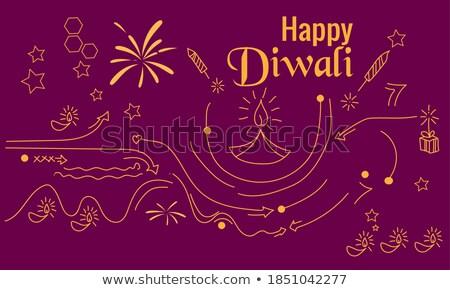 creative diwali sale banner design in purple theme stock photo © sarts