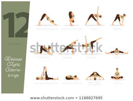 Stock photo: 12 Yoga poses to release tight hamstrings