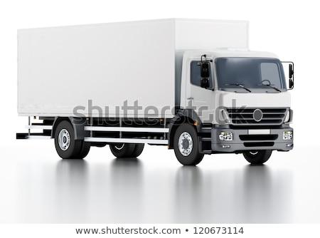 3d Illustration Of White Truck Stock fotó © Mechanik