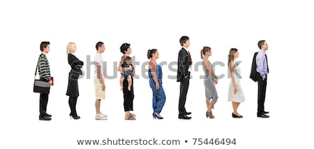 Queue stands in white background Stock photo © bluering