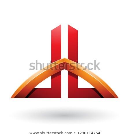 oranje · Rood · brieven · vector · illustratie · geïsoleerd - stockfoto © cidepix