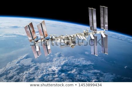 Orbital stations orbiting moon Stock photo © jossdiim