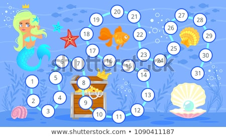 underwater fish board game template stock photo © colematt