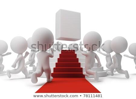 лестниц · открытых · двери · 3d · небе · строительство - Сток-фото © anatolym