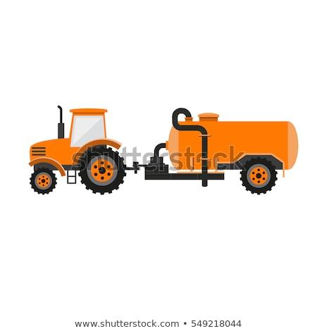 Slurry Tanker Machinery Icon Vector Illustration Stock photo © robuart