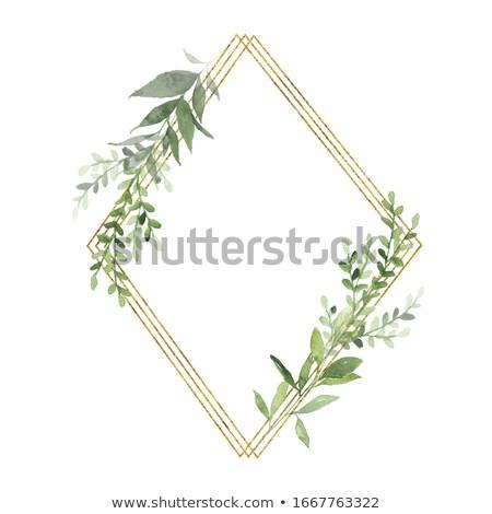 Oro hojas guardar fecha tarjeta plantilla Foto stock © ivaleksa