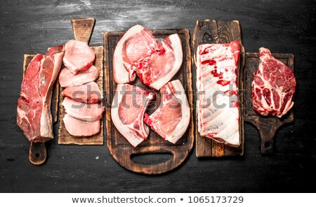 Different types of grilled food Stock photo © colematt