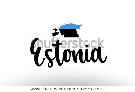 地図 · エストニア · パターン · サークル · ポイント · 実例 - ストックフォト © blaskorizov