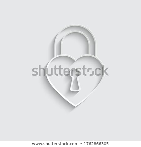 heart lock vector logo icon element Stock photo © blaskorizov