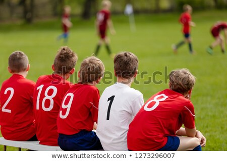 Kids Football Team. Children Football Academy. Substitute Soccer Stock photo © matimix