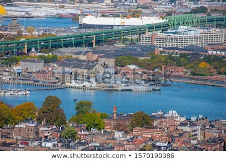 Бостон · центра · Cityscape · реке · здании · город - Сток-фото © jsnover