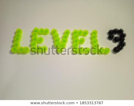 Zdjęcia stock: Czarno · białe · numer · dziewięć · 3D · 3d