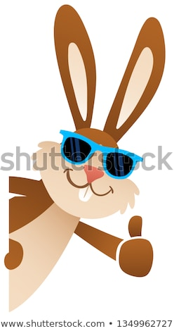 easter bunny cool rabbit cartoon giving thumbs up stock photo © krisdog