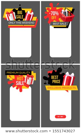 Big Sale Sellout Promo Poster with Present Boxes Stock photo © robuart