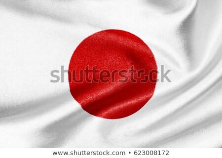 Японский флаг иллюстрация девушки женщины платье Сток-фото © colematt