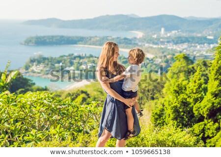 Mamma figlio view punto phuket Foto d'archivio © galitskaya