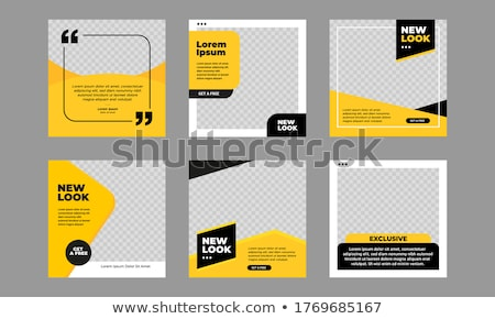 Vector flyer cover or post template Stock photo © orson