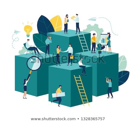 Carrera desarrollo vector creativa ilustración personalidad Foto stock © RAStudio