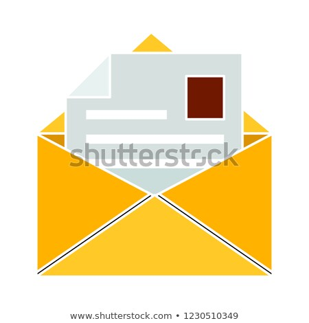 Envelope with Paper Mail Message Isolated Icon Vector Stock photo © robuart