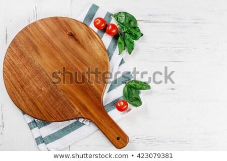 イタリア語 ピザ ロゴ 空っぽ 木製 スペース ストックフォト © doomko