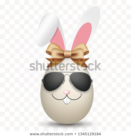 Natural Easter Egg Hare Ears Sunglasses Transparent Stock photo © limbi007