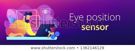 eye tracking technology concept banner header stock photo © rastudio