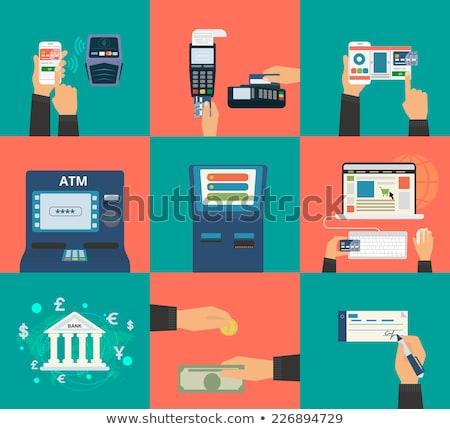 Compras on-line ecommerce on-line bancário conjunto Foto stock © robuart