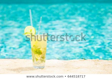 Mojito cocktail lusso vacanze bar tavola Foto d'archivio © dashapetrenko
