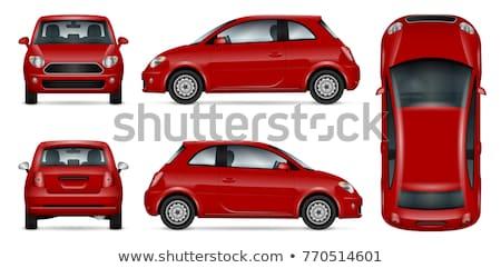 Mini czerwony samochodu wektora mały Zdjęcia stock © YuriSchmidt