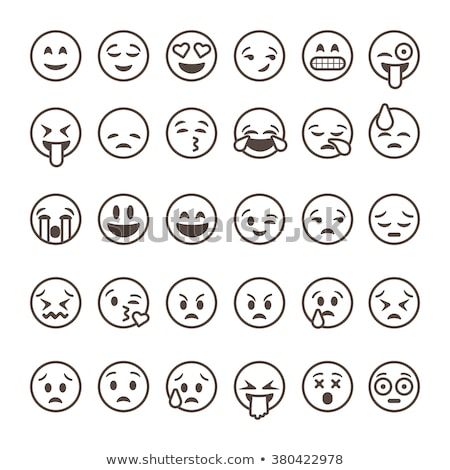 Funny cute emoticon outline set Stock photo © Blue_daemon