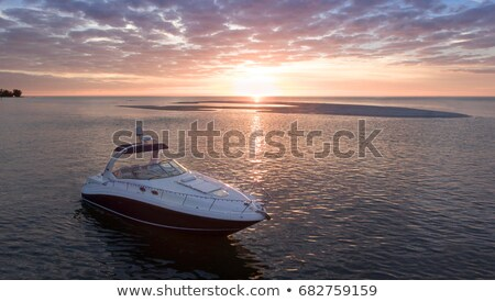 Boats anchored by the sand bar Stock photo © jsnover