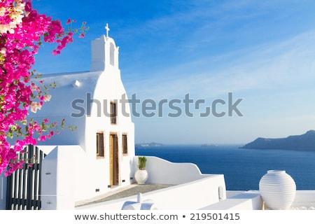 gyönyörű · naplemente · Santorini · sziget · égbolt · víz - stock fotó © neirfy