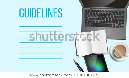 Guidelines Notepad Page Template With Text Space Stock photo © pikepicture