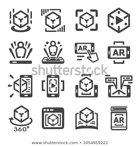Valóság technológia ikonok infografika gyűjtemény digitális Stock fotó © frimufilms