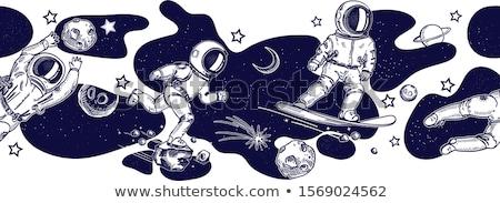 астронавт космическое пространство современных небе фон искусства Сток-фото © Genestro
