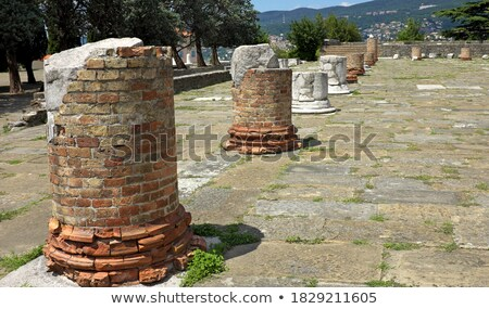 City of Trieste old ruins view Stock photo © xbrchx