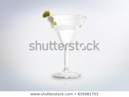 Három klasszikus száraz martini olajbogyók izolált Stock fotó © dla4