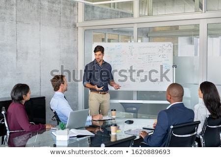 people are working on strategic planning and marketing strategies stock photo © sgursozlu