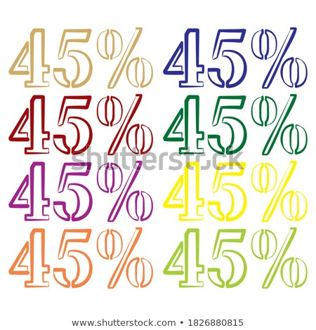 Kırk beş yüzde pazarlama teklif vektör Stok fotoğraf © pikepicture