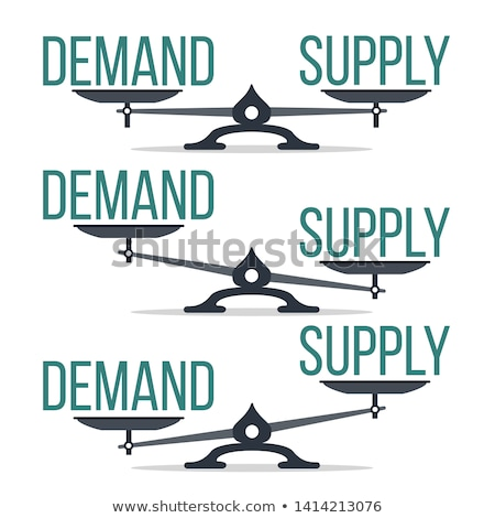 Demand And Supply Balance On Scale Set Vector Stock photo © pikepicture