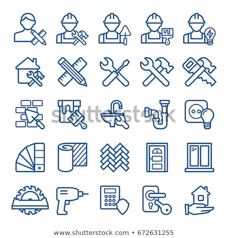 saw and hammer repair icon Stock photo © romvo