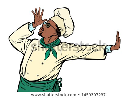 african cook chef gesture of shame denial no stock photo © studiostoks