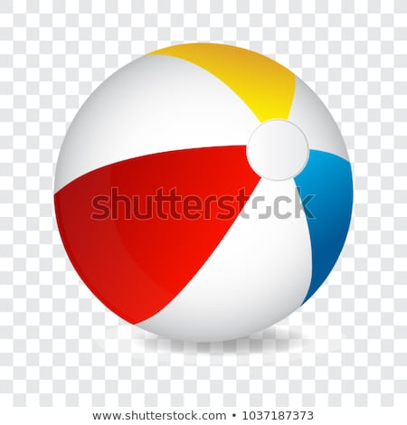 иллюстрация надувной пляжный мяч Top мнение летнее время Сток-фото © Sonya_illustrations