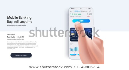 Paying through mobile gadget Stock photo © pressmaster