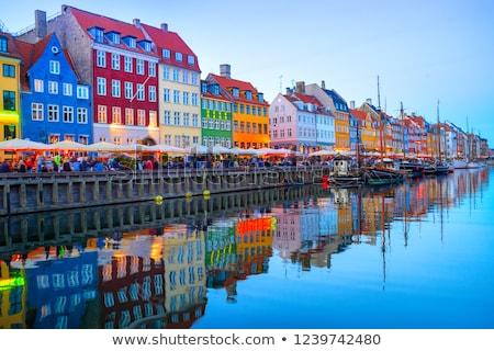 Koppenhága város központ híd Dánia ház Stock fotó © borisb17